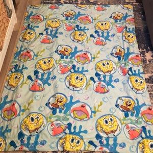 Fleece lined spongebob quilt